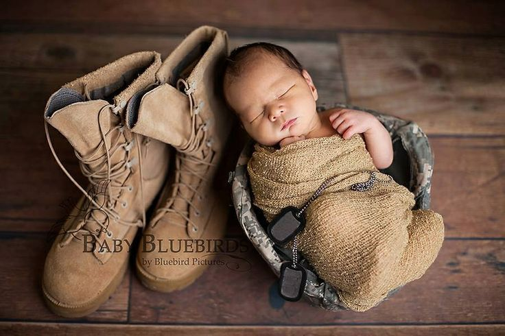Newborn Photo Ideas Military