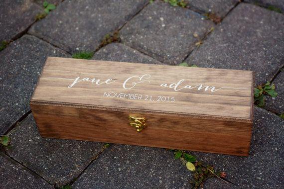 Wooden Box - Wine Box - Wooden Wedding Signs