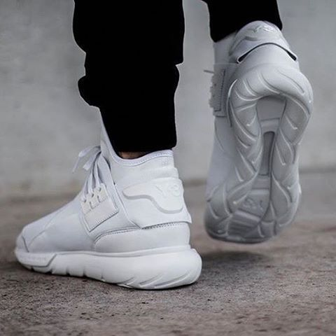 09ccdcb40c44d Make an impression. The Y-3 Qasa High triple white is available on Y-3.com.  Image by  footstep.co  adidas  Y3  Qasa