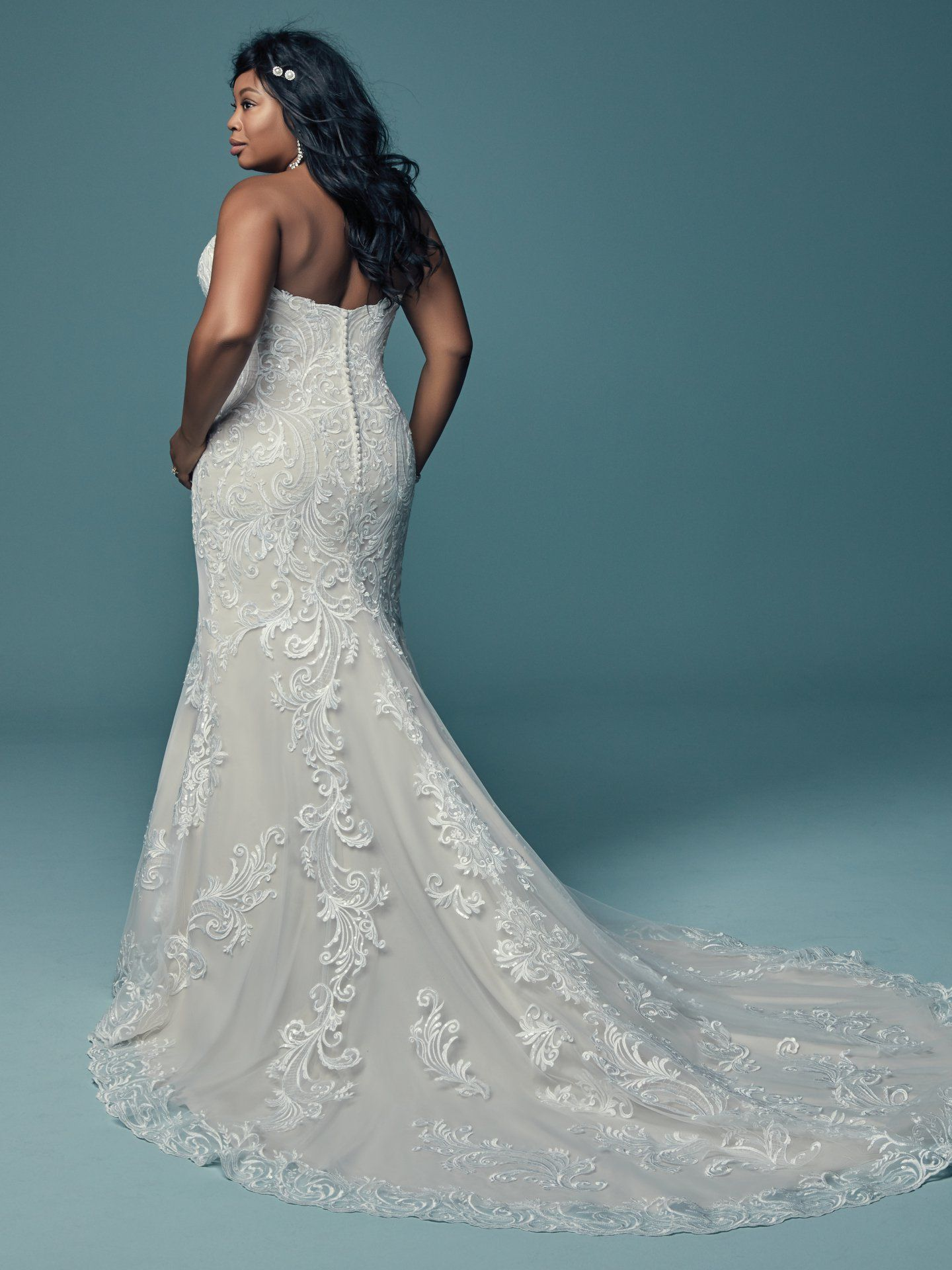 Blue plus size wedding dresses  LUANNE by Maggie Sottero Wedding Dresses  Plus Size Wedding Dresses