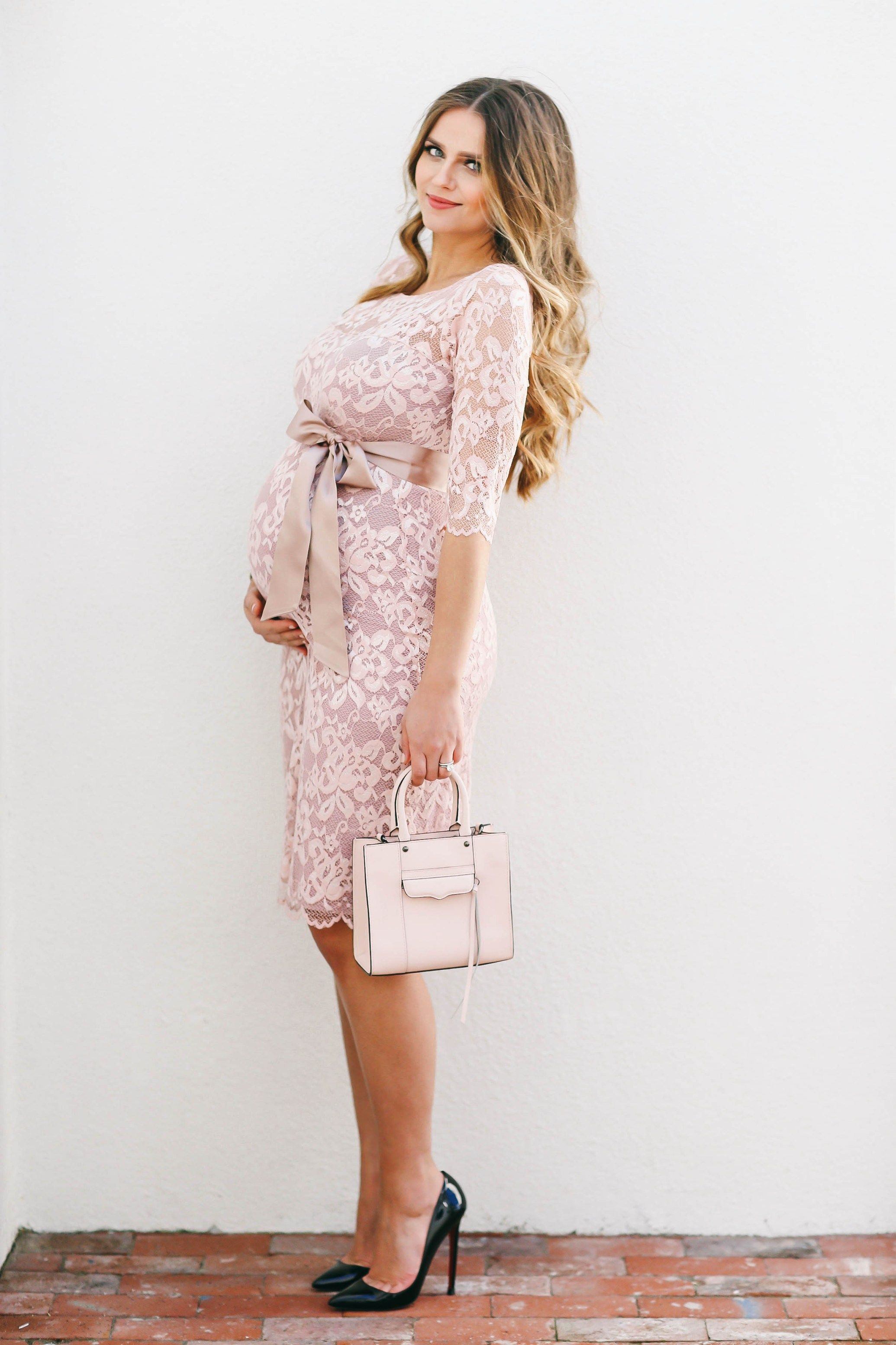 Bumpstyle blush pink lace maternity dress blush pink bumpstyle blush pink lace maternity dress ombrellifo Choice Image