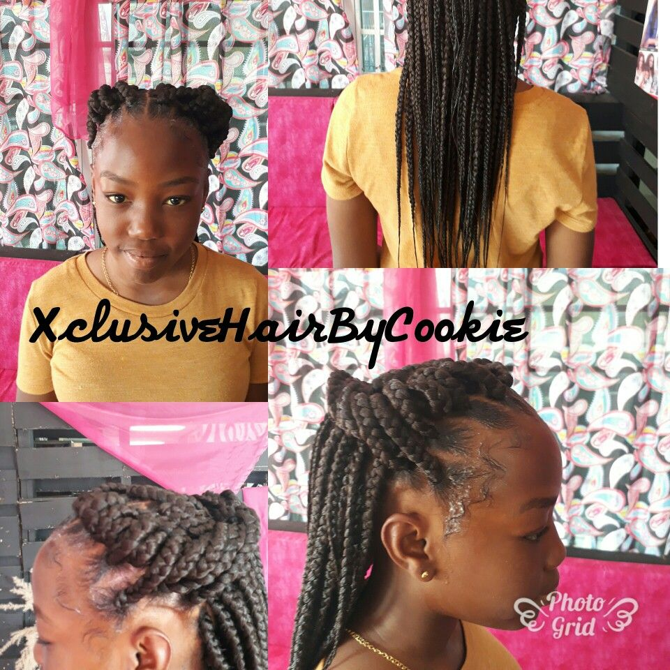 Box braids for teens braided updo pinterest updo