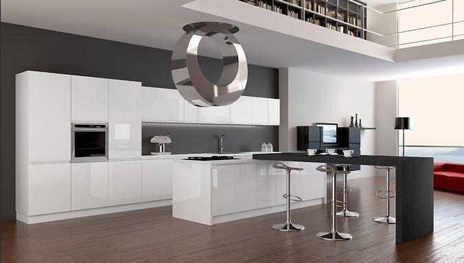 cucina moderna bianca e grigia - Cerca con Google | Moderní kuchyně ...