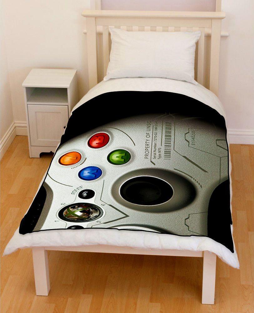 XBOX Controller Fleece Blanket Throw Bedding Gift | Bedroom ...