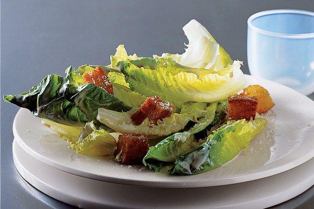 Julia S Caesar Salad Recipe Epicurious Com Caesar Salad Recipes Food