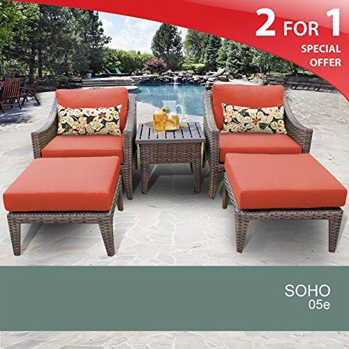 Soho 5 Piece Outdoor Wicker Patio Furniture Set 05e * Please Continue Read.