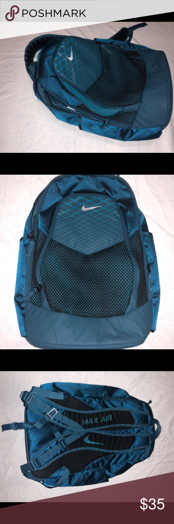 d45a7a93c5 Nike max air unisex backpack Two big pockets one small. New condition barley  used. Nike Bags Backpacks