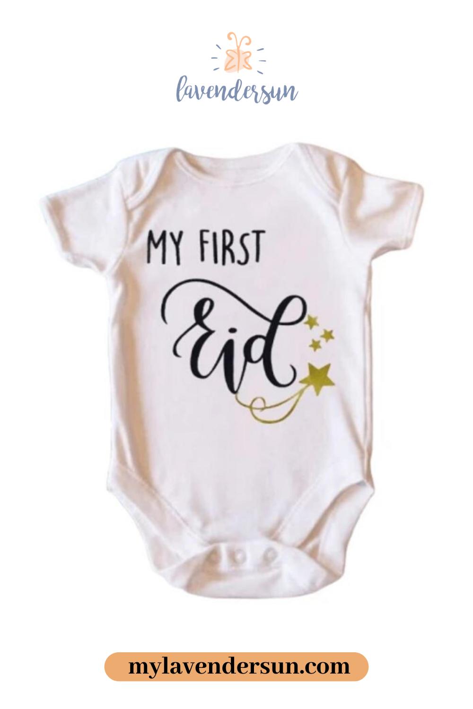 My First Eid Onesie  Trendy baby onesies, Trendy baby clothes