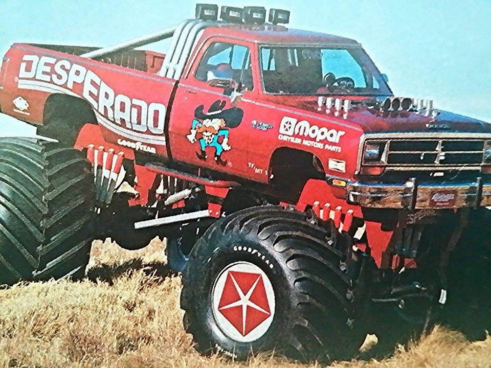 1987 Dodge Ram Monster Truck Desperado Monster Trucks Big Monster Trucks Old Dodge Trucks
