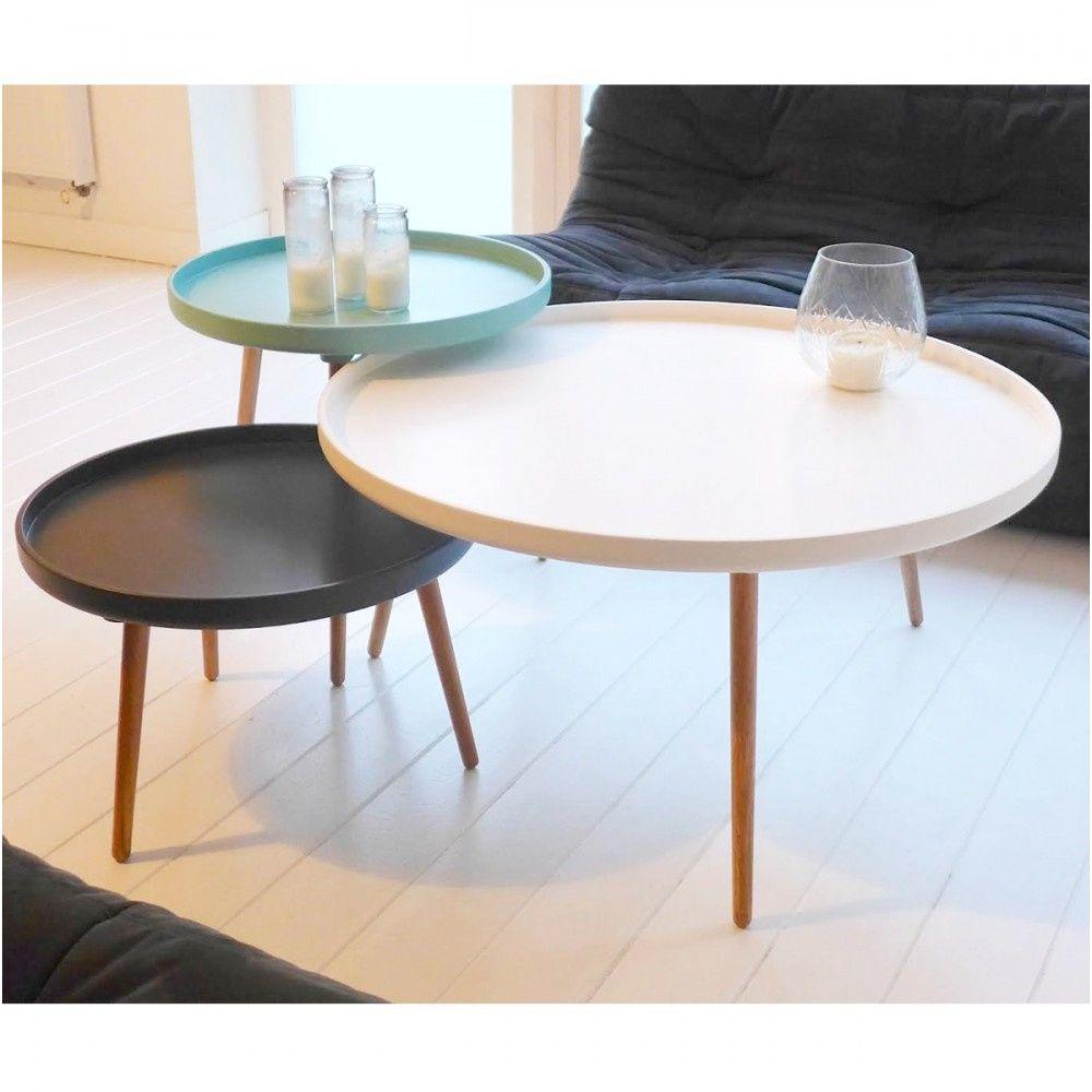 100 Génial Concepts Table De Salon Blanche Ronde
