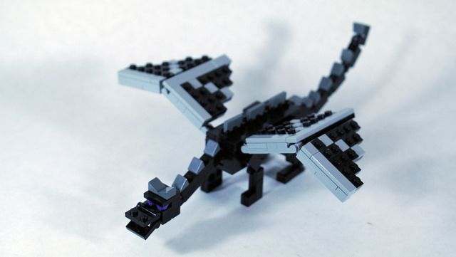 Lego Minecraft Ender Dragon Minifig Scale Lego Minecraft Minecraft Ender Dragon Lego Dragon