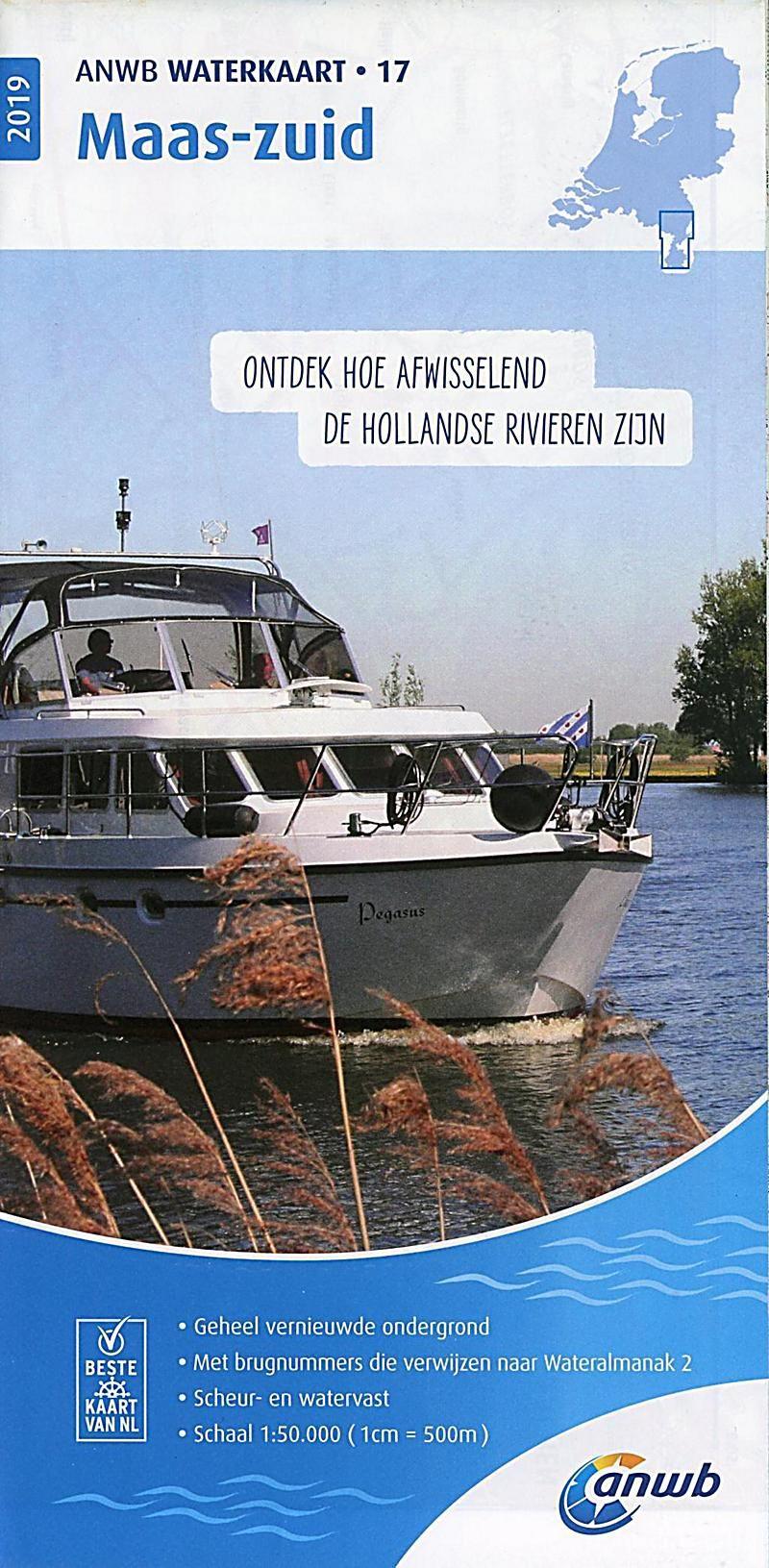 Anwb Waterkaart Maas Zuid Karte Im Sinne Von Landkarte Buch
