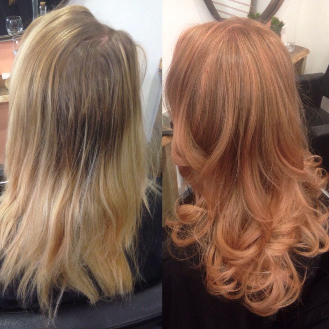 #rose gold #makeover #ombre #style #full-head colour   @zakcoldicutt