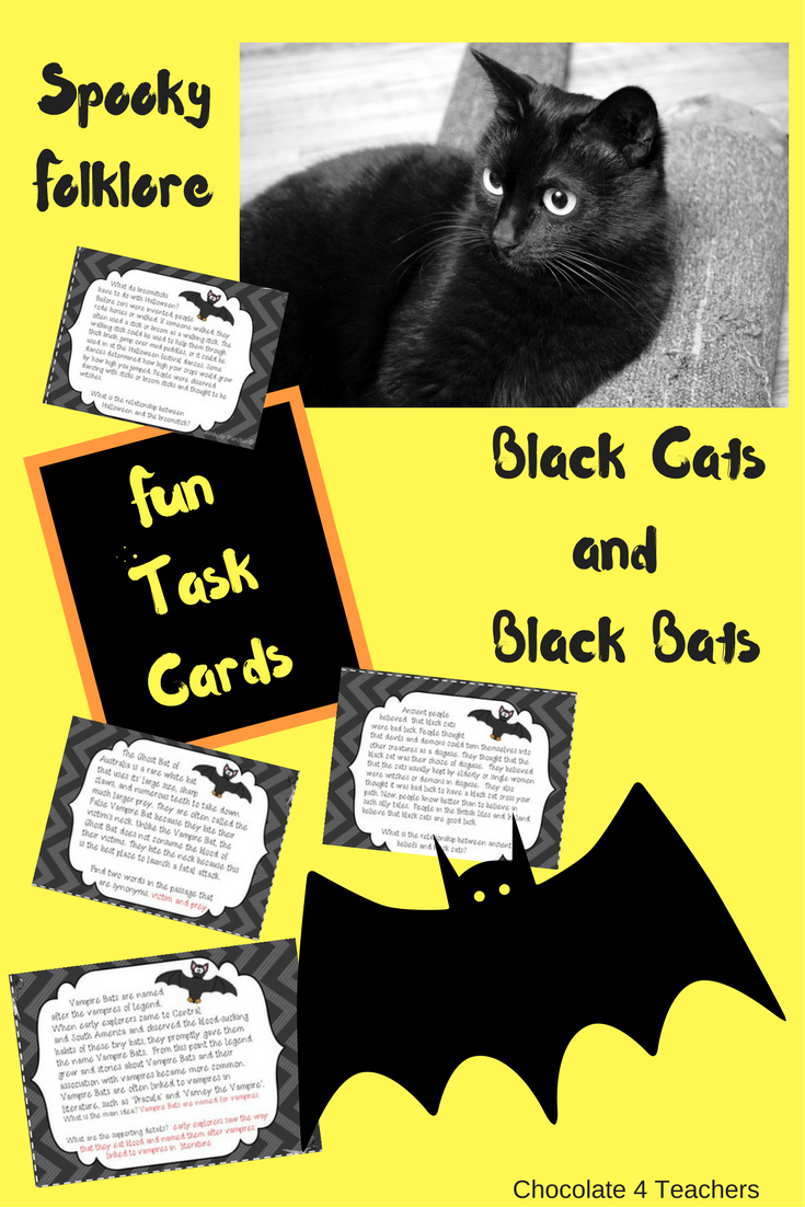 Black Bats and Black Cats Halloween Folklore NonFiction