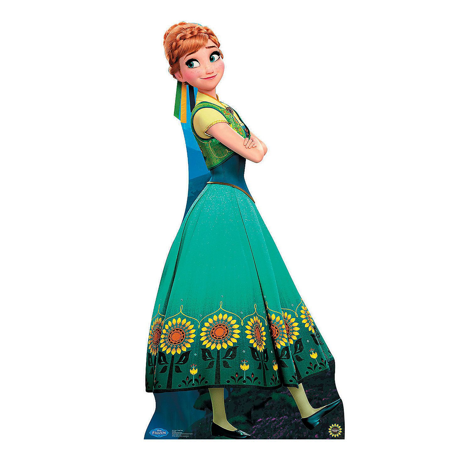 Frozen Fever® Anna Hugging Cardboard Stand-Up | Anna, Christmas 2017 ...