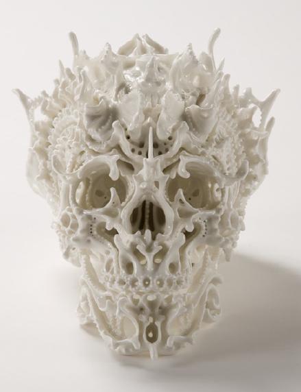 Katsuyo Aoki, ceramic skull