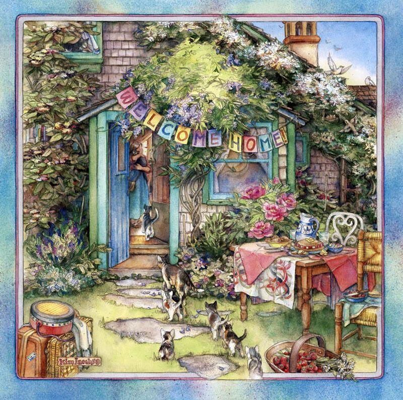 Мир уюта и добра, созданный художницей Kim Jacobs. Часть 1 ...
