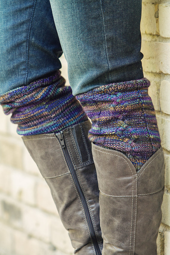 Knitting Pattern Pdf File For Cabled Boot Cuffs Boot Toppers