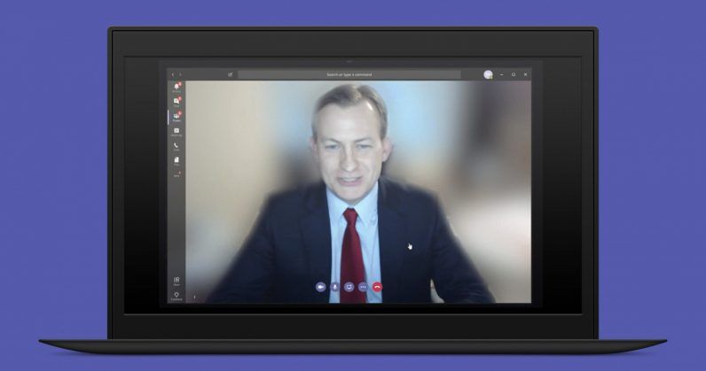 Microsoft Teams Can Now Blur Backgrounds During Video Calls Thanks To Ai Blurred Background Background Messaging App