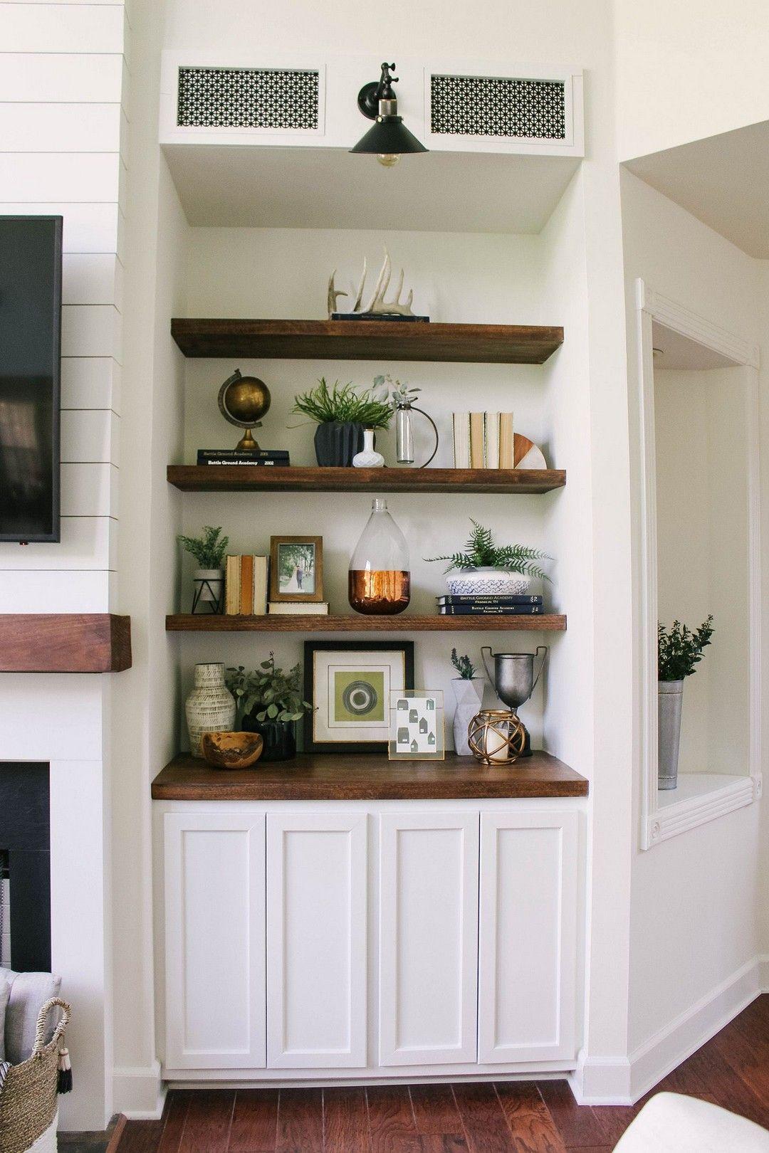 48 DIY Floating Shelves for my Living Room images