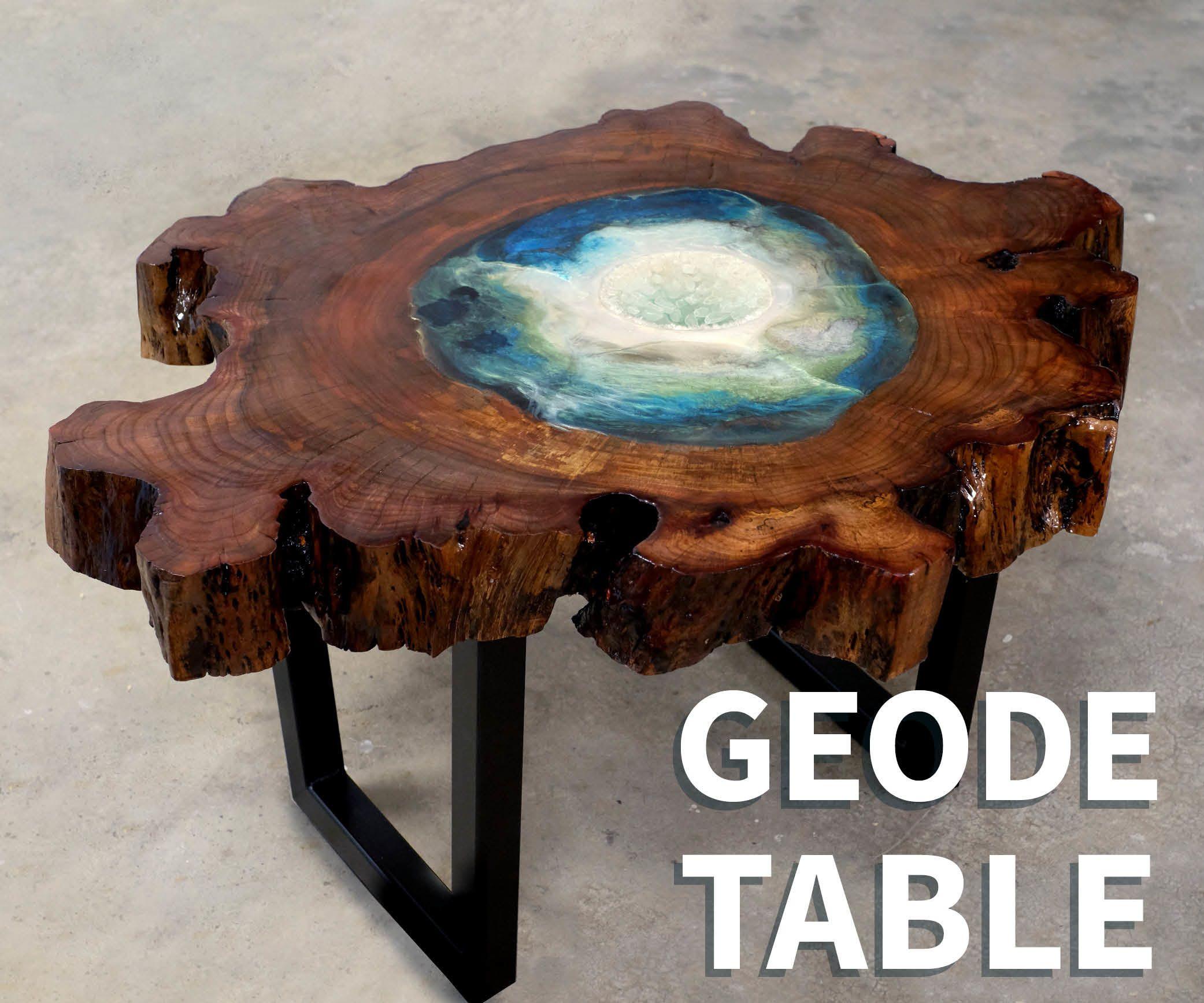 Wood Resin Geode Table Resin Table Top Wood Diy Coffee Table Wood