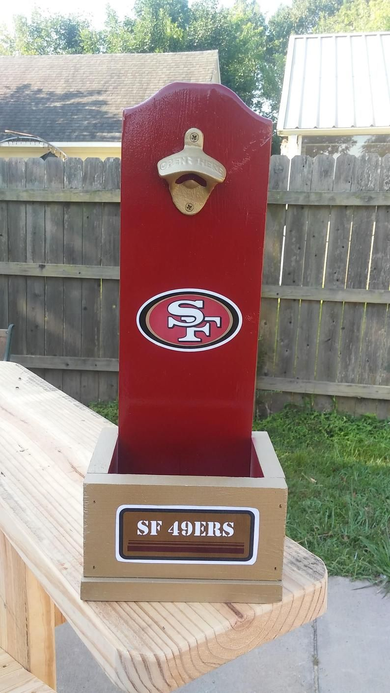 Nfl Bottle Opener With Cap Catch Any Football Team Etsy In 2020 Wood Bottle Opener Bottle Opener Wall Wooden Bottle Opener