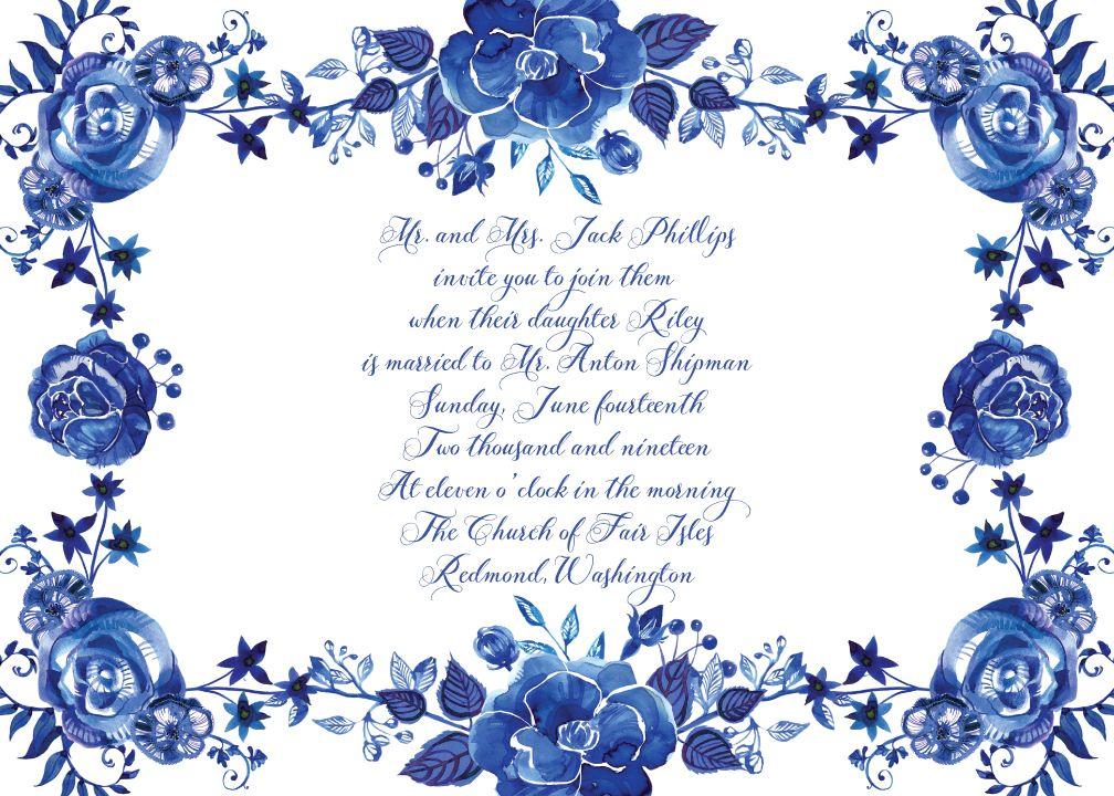 Royal Blue Wedding Invitation Templates Lovely 12 Best S Of Ball Invitation In 2020 Wedding Invitations Borders Wedding Invitation Templates Cheap Wedding Invitations