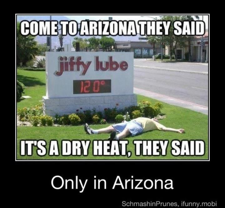 If I Hear One More Person Say Yeah But It S A Dry Heat I Ll Freak Arizona Humor Everything Funny Funny Memes