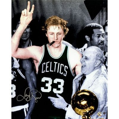 Steiner Sports Larry Bird Signed Colorized Graphic Art