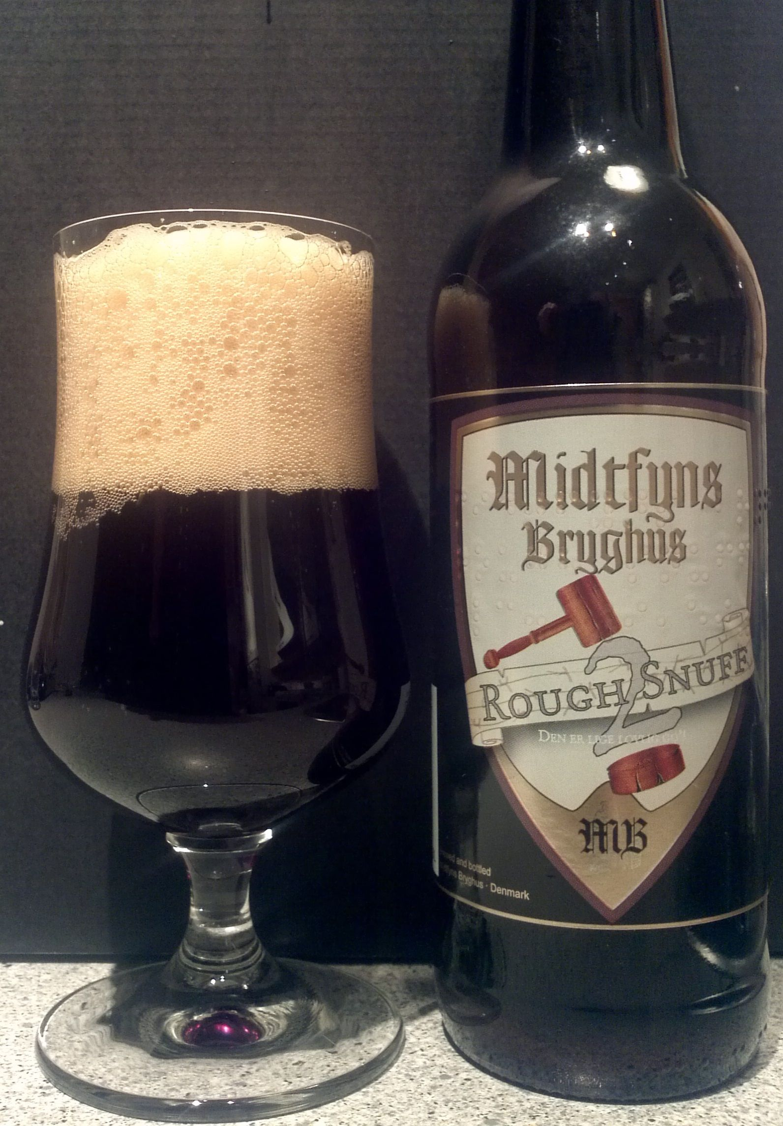Rough Snuff 2 9,5 Midtfyns Bryghus 12-12 2015 22.11.14 | Breweriana y coleccionismo cervecero ...