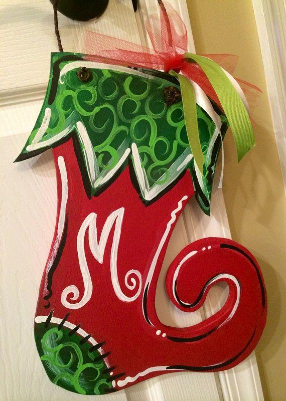 Holiday wooden door sign Chritsmas door sign by MelanieLupien