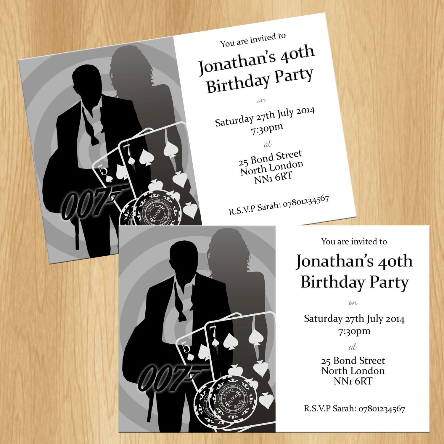 James Bond 007 Casino Party Invitations by QualityInvitations – 007 Party Invitations