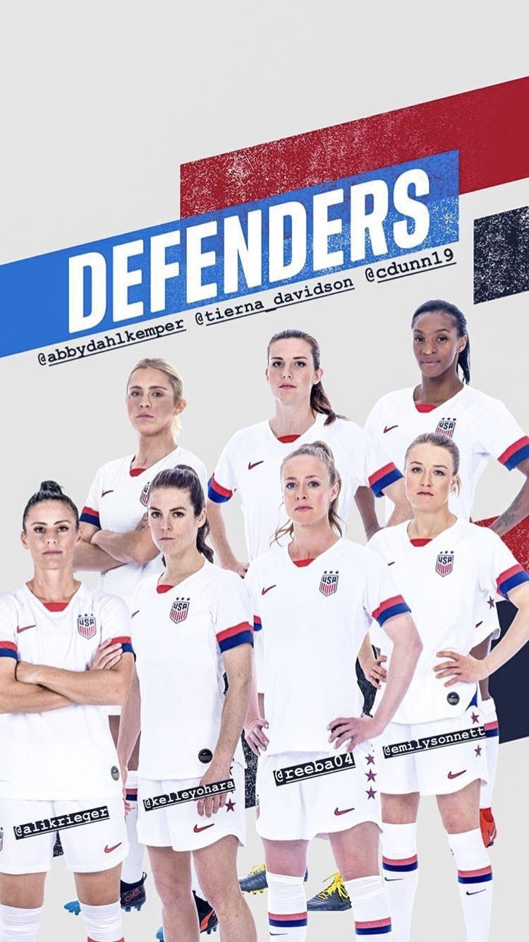 2019 Uswnt World Cup Team Defenders Usa Soccer Women Usa Soccer Team Uswnt Soccer