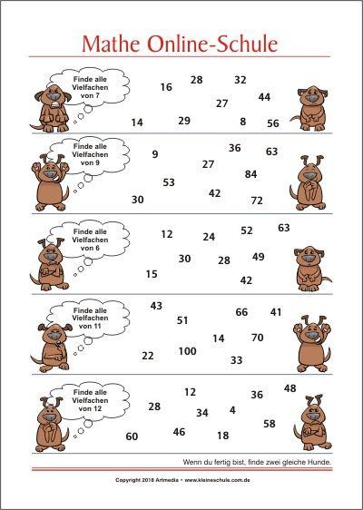 finde alle vielfachen von mathe aufgaben f252r die 3