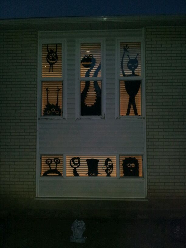 8 ideas for halloween window decor cut out kooky monster shapes for your windows