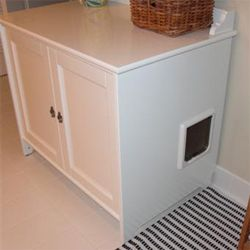Finally some crafty solutions to hiding cat litter boxes that donu0027t involve  closets and curtains! Casstasstrophie transformed an Ikea