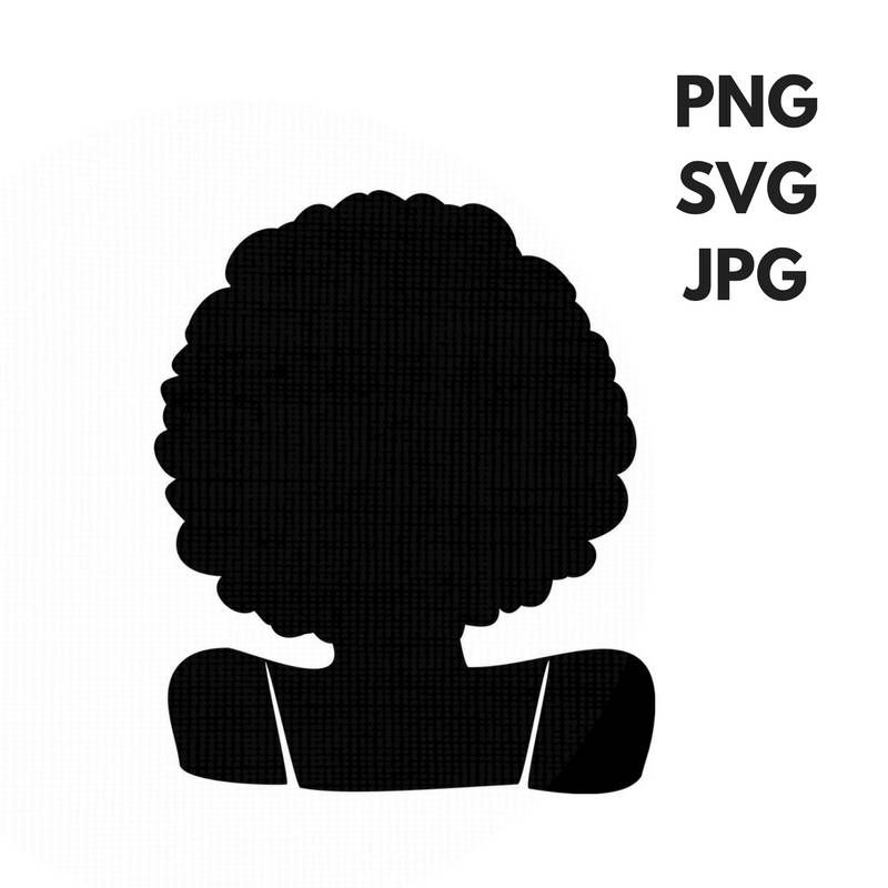 Afro Svg Silhouette Clip Art Afro Curly Natural Hair Png Files Etsy Silhouette Clip Art Hair Png Clip Art