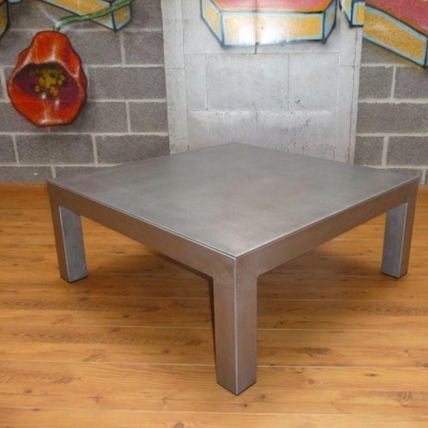 Table basse acier brossé | table basse design | Pinterest | Steel ...