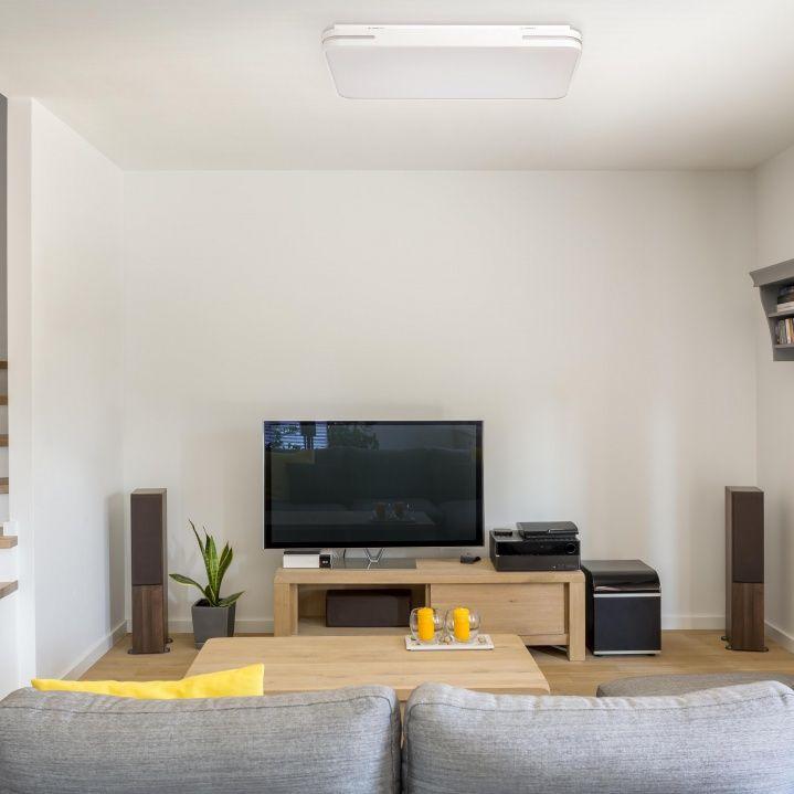 Minimalistische Weiße Led Deckenleuchte Modern Wohnraum