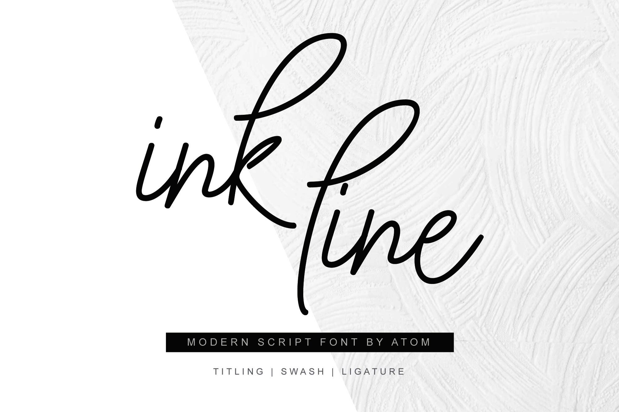 Ink Line (Font) by Letteratom