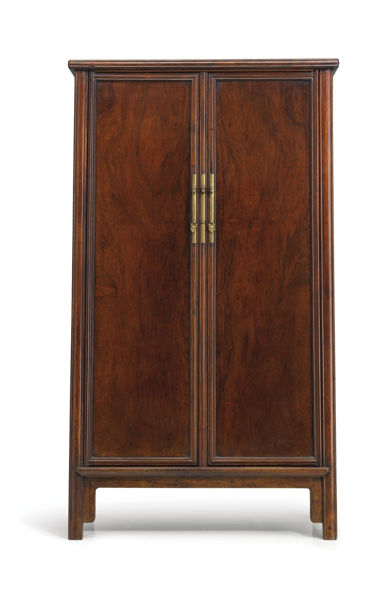 A Huanghuali Sloping Stile Wood Hinged Cabinet, Late Ming Dynasty
