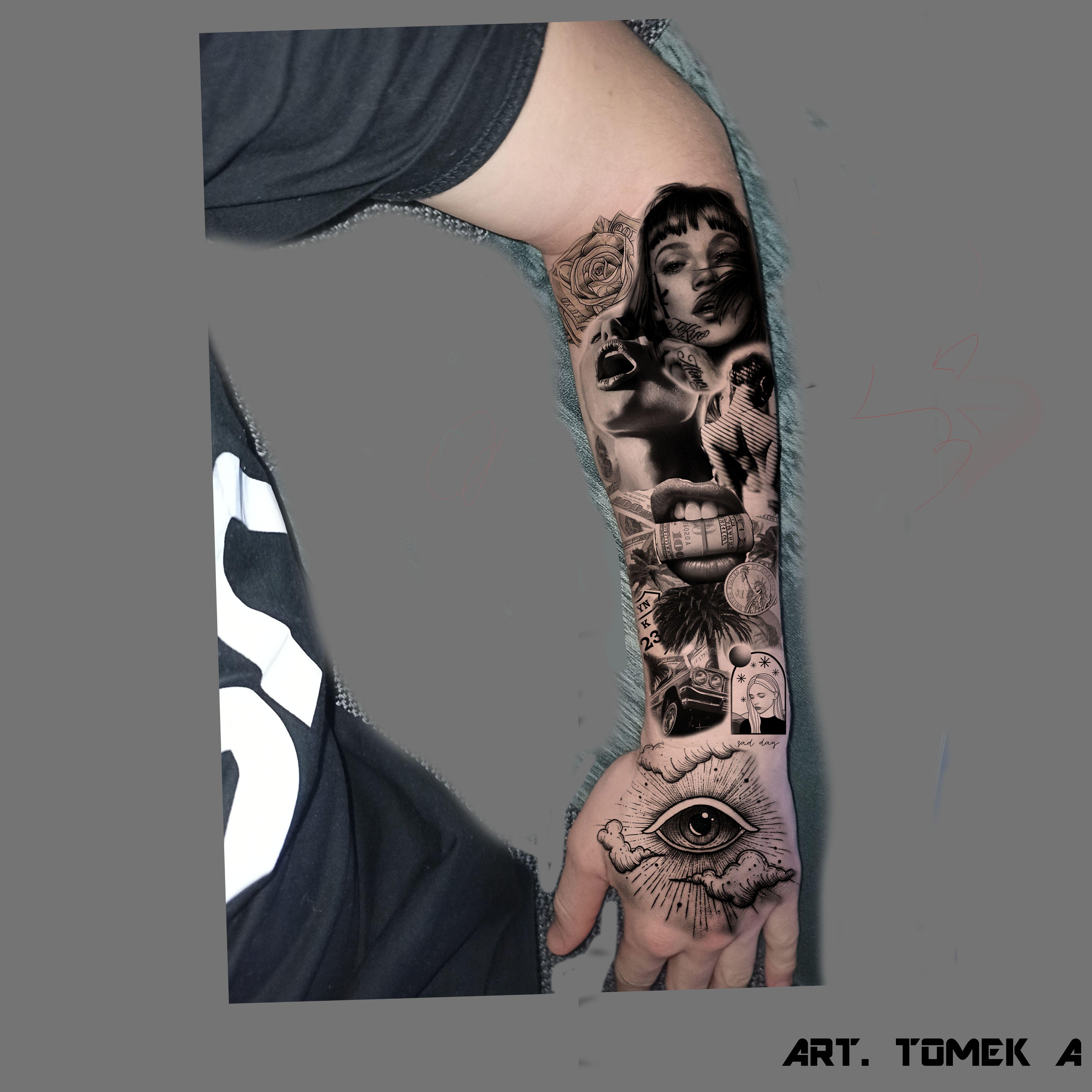 #tattoo #rękaw #hand #arm #tattooarm #tatoohand #tatuaż #tokyo #tokio #eye