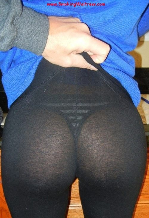 pants through in ass see yoga Girls