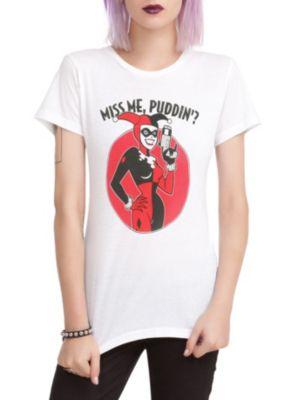 DC Comics Harley Quinn Miss Me Puddin' Girls T-Shirt