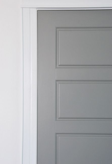 Painting gray interior doors how i did it for the home - Pre painted white interior doors ...