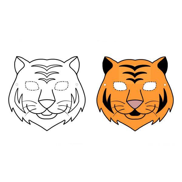 Masque de tigre imprimer masque pinterest masque de tigre masque et masque animaux - Masque de renard a imprimer ...