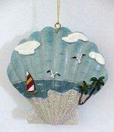Deniz Kabuğu Boyama örnekleri Takı Deniz Tema Seashell