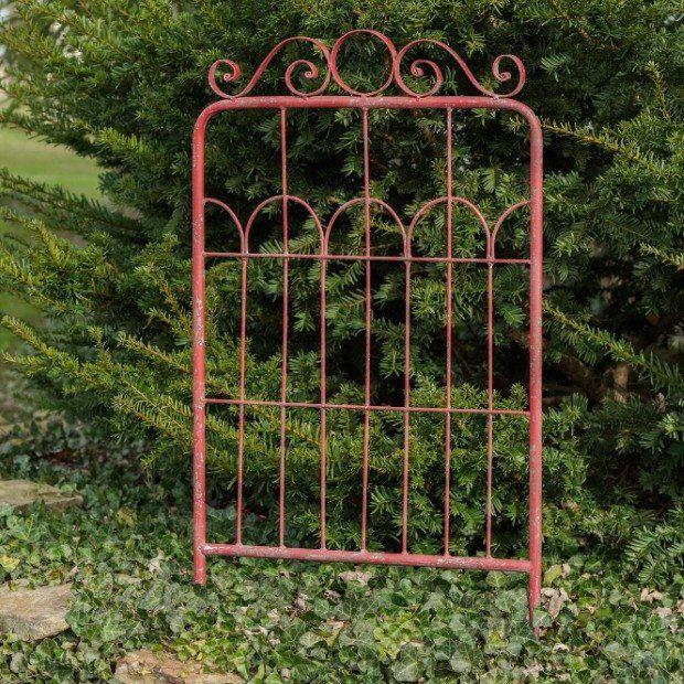 Distressed Metal Garden Gate Wall Decor | Garden gate wall ...