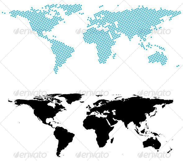 Realistic graphic download d httpjquery buy dotted world map by namistudio on graphicriver digital dotted world map more world map gumiabroncs Images