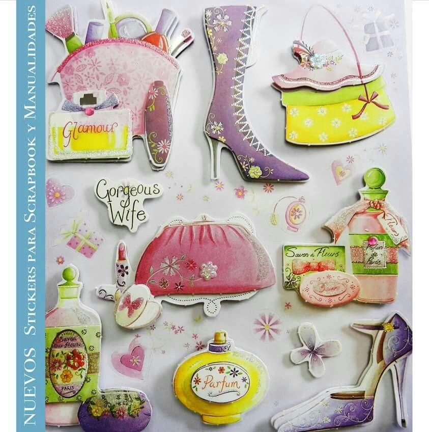Planillas de #Stickers colección #glamour Ideales para #scrapbook y #manualidades. Pídelos con las claves: DJS103 C
